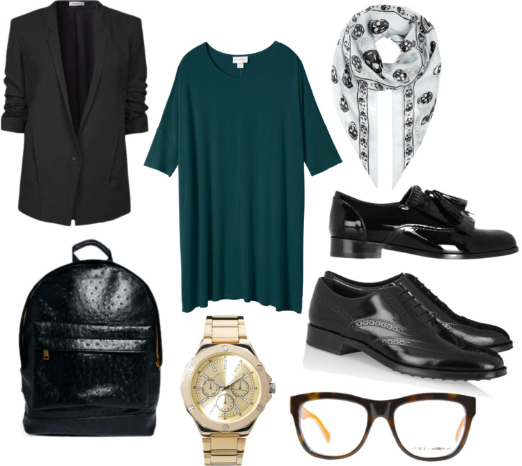 fashion junkie, blogger, outfit, what would i wear, school, oxfords, dress