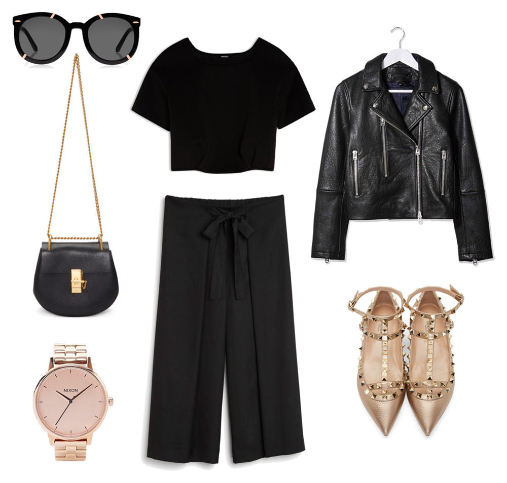 style, pelamarela, blogger, lifestyle, personal, outfit, what would i wear, spring, midi skirt, culottes, black clothes